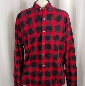 GoodThreads Red and Black plaid Button dow…